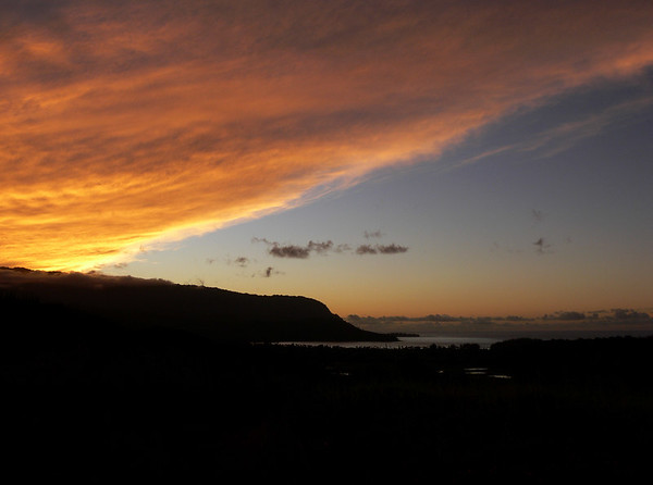 Sunset over Hanalei Bay